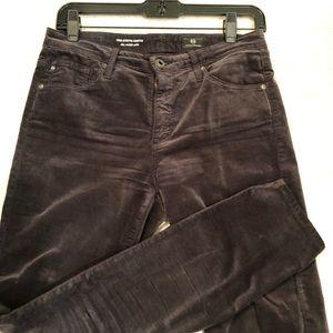 AG velvet jeans. Stevie Ankle slim straight